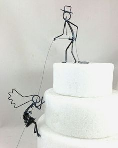 Personnage gâteau mariage