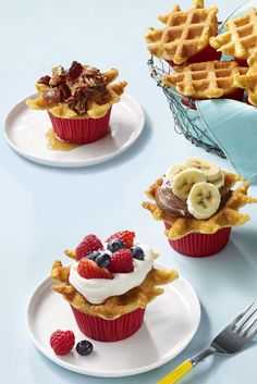 Cupcakes, meet breakfast! This wafflecakes recipe will have your kids at the breakfast table pronto.