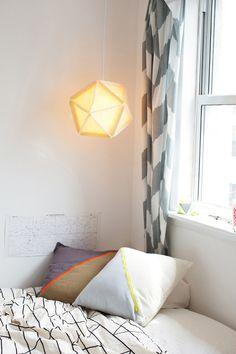 soft felt geometrical light