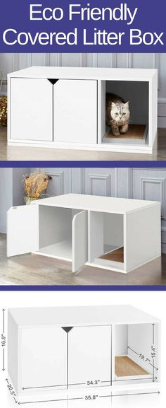 comment modifier un meuble pour cacher le bac liti re de votre chat pets pinterest chat. Black Bedroom Furniture Sets. Home Design Ideas