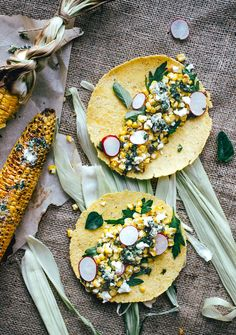 Roasted corn with spicy chimichurri butter.