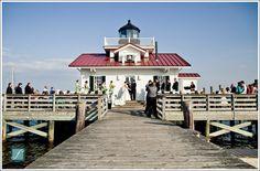 Manteo, NC lighthouse/pier wedding