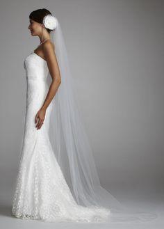 Side of wedding dress.