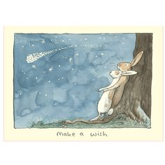 M248  MAKE A WISH - Two Bad Mice card by Anita Jeram www.twobadmice.com