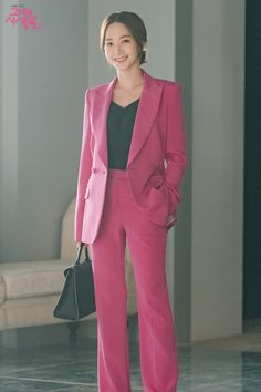 Park Min Young Bí mật nàng fangirl her private life Office Fashion, Pop Fashion, Asian Fashion, Girl Fashion, Fashion Outfits, Fashion Styles, Suits For Women, Clothes For Women, Park Min Young