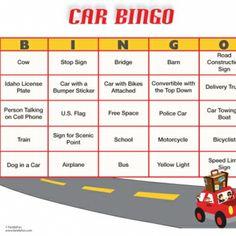 car bingo | Car Bingo (Printable Activity for Kids) | Spoonful