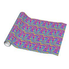 wavy rainbow gift wrapping paper