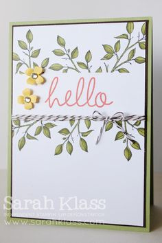 Choose Happiness + Blendabilities | Sarah Klass - Independent Stampin' Up! demonstrator