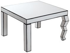 The Trip Cartoon Coffee table Black & white by Seletti - Design furniture and decoration with Made in Design
