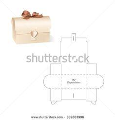 Retail Box with Blueprint Template - compre este vetor na Shutterstock e encontre outras imagens. Paper Gift Box, Diy Gift Box, Diy Box, Paper Boxes, Diy Gifts, Handmade Crafts, Diy And Crafts, Paper Box Template, Box Patterns