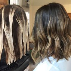 31 brunette hair style color with highlights 14 Brown Hair Balayage, Brown Blonde Hair, Brunette Hair, Hair Highlights, Ombre Hair, Brunette Balayage Hair Short, Balayage Bob, Hair Looks, Hair Lengths