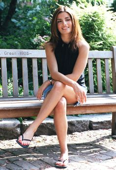 Ada Nicodemou with nice casual leg cross and arm cross mirror
