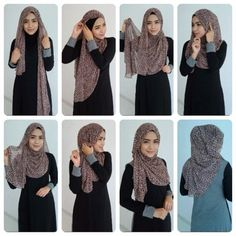 Find our latest new hijab styles 2020 step by step. Learn how to take hijab without a pin. You will be helped out in learning by making a tutorial series of taking hijab. See chest covering hijab style for girls and much more. Islamic Fashion, Muslim Fashion, Hijab Fashion, Fashion Outfits, Muslim Girls, Muslim Women, Beau Hijab, Hijab Simple, How To Wear Hijab