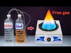 How to make Free LPG Gas at Home - Free Gas from Water and Petrol Off Grid Survival, Survival Skills, Diy Projects For School, Experiment, Handmade Desks, Pvc Pipe Crafts, Camping Gas, Free Gas, Plastic Bottle Crafts