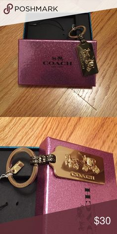 Key Chain Gold Coach key chain. Never been used. Hasn't even been taken out of the box. No trades. No paypal. Coach Accessories