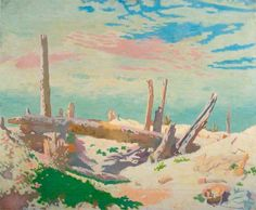 Thiepval Wood by William Newenham Montague Orpen (Fine Art Framed Giclee William Newenham Montague Orpen) Landscape Art, Landscape Paintings, Landscapes, Irish Painters, Ww1 Art, English Artists, British Artists, Battle Of The Somme, Research Images