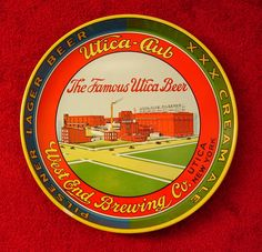 Vintage - West End Brewing Co of Utica - New York - USA - Pilsner Lager Beer - XXX Cream Ale - Tray - 1944
