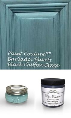 Paint Couture Barbados Blue and Balck Chiffon Glaze Couture are the perfect beachy Coastal Paint and Glaze Combination.