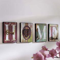 "Wandschild-Set ""Home"", 4-tlg.: Amazon.de: Küche & Haushalt"