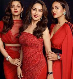 Madhuri Dixit,Alia Bhatt,Sonakshi Sinha for «Bazaar India Bollywood Stars, Mode Bollywood, Bollywood Girls, Bollywood Actress Hot, Beautiful Bollywood Actress, Indian Bollywood, Bollywood Fashion, Bollywood Oops, Indian Celebrities