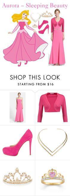 """""""Aurora ~ Sleeping Beauty"""" by firecanfly ❤ liked on Polyvore featuring Dessy Collection, Oscar de la Renta, Brian Atwood, Natalie B, Accessorize and MSGM"""