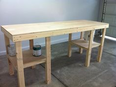 http://www.garagejournal.com/forum/showthread.php?t=464 easy work bench