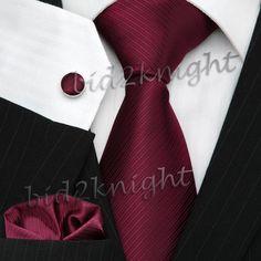 Burgundy Wedding Silk Tie Set. Another great winter wedding color.