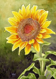 Sunflower Print Printable Art Sunflower Art Home Decor Art Watercolor, Watercolor Sunflower, Sunflower Art, Watercolor Flowers, Sunflower Paintings, Sunflower Quotes, Sunflower Pictures, Sunflowers And Daisies, Sun Flowers