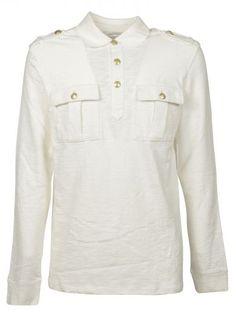 PIERRE BALMAIN Cotton Polo Shirt. #pierrebalmain #cloth #topwear