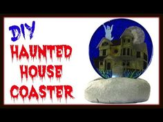 Haunted House Coaster | DIY Project | Another Coaster Friday | Craft Klatch | How To | Halloween Ser - YouTube