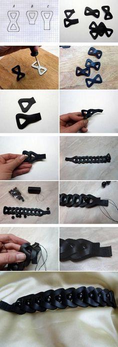 Cool Link Leather Bracelet