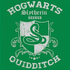 Slytherin Quidditch Funny T-Shirt Hogwarts Textual Tees