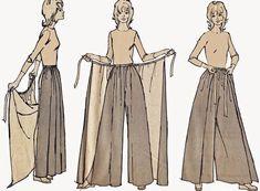 Sewing pants pattern costura 23 New ideas Diy Clothing, Sewing Clothes, Clothing Patterns, Dress Patterns, Simplicity Sewing Patterns, Free Sewing, Vintage Sewing Patterns, Pattern Sewing, Diy Fashion