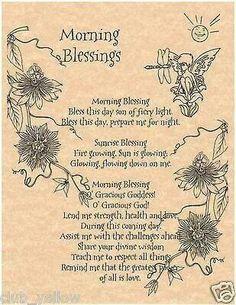 Morning blessing