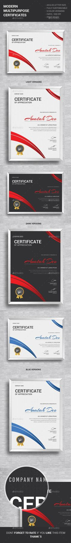 Modern certificate certificate certificate design and template this modern multipurpose certificates can be used for all you needsfeatures a4 yelopaper Choice Image