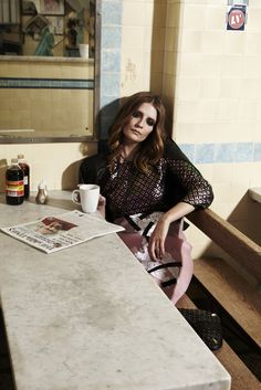 0d0e0cdb4da Elle China British Inspired Photoshoot wearing PAROSH Jacket   Dress ...
