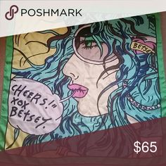 Betsey Johnson Rare Cartoon print Scarf Highly Collectable Great condition!! Betsey Johnson Accessories Scarves & Wraps