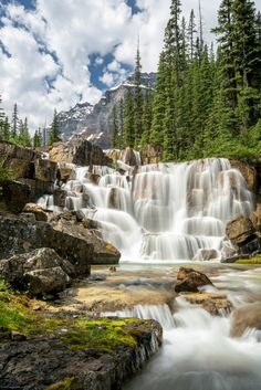 The Giant Steps: Paradise Valley, Banff National Park #waterfall