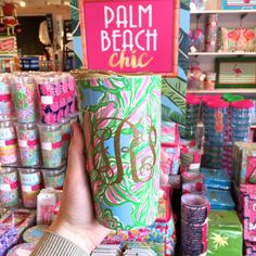 Lilly Pulitzer ceramic mug  with gold lid and gold glitter monogram *swoon*