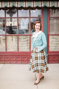 · A Practically Vintage Plaid Skirt ·