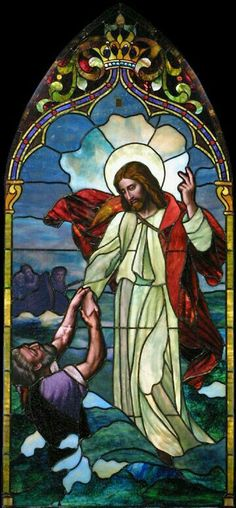 Keep your eye on Jesus - not the storm #StainedGlassChurch