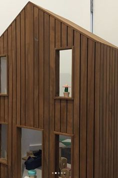 Check out this awesome birthday present by the talented Murdoch Studio Collective - one little girl will be having a great holiday with an Abodo clad dolls house! Timber Cladding, Good Ol, Dream Houses, Natural Wood, Alternative, Dolls, Studio, Birthday, Awesome