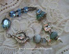 Romancing the Bling, 5/2013 ---Rosary assemblage bracelet