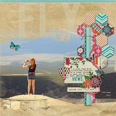 """Fly"" by latz, as seen in the Club CK Idea Galleries. #scrapbook #scrapbooking #creatingkeepsakes"