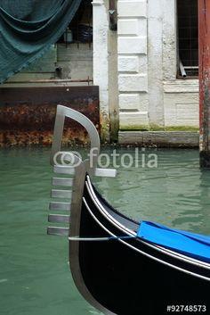 Detail einer venezianischen Gondel Venice, Boat, Places, Ink, Pictures, Manualidades, Spring, Gondola Venice, Royalty Free Images