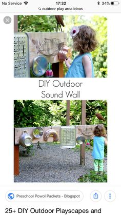 DIY Outdoor Playscapes and Learning Station Ideas!, DIY Outdoor Playscapes and Learning Station Ideas!, DIY Outdoor Playscapes and Learning Station Ideas! Kids Outdoor Play, Outdoor Play Spaces, Outdoor Learning, Outdoor Games, Outdoor Fun, Natural Playground, Backyard Playground, Backyard Ideas, Playground Ideas