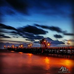 Tonight's Windy Sunset. This is a long exposure take at the San Clemente Pier. A great close to a busy weekend. Like and share if you like the sunset. -