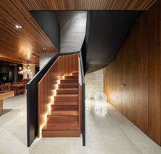 Image 3 of 26 from gallery of Fazenda Boa Vista / Fernanda Marques Arquitetos Associados. Photograph by Fernando Guerra Interior Design Magazine, Best Interior Design, Home Design, Interior Decorating, Staircase Railings, Staircase Design, Stair Design, Wood Stairs, Wooden Staircases