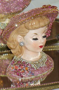 Vintage Lady Head Vase Napcoware | Antique Victorian Lady Head Vase 2 From The Collection By Debbie Del ...