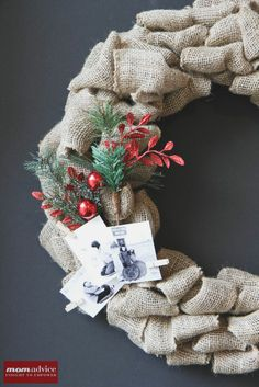 DIY: burlap wreath